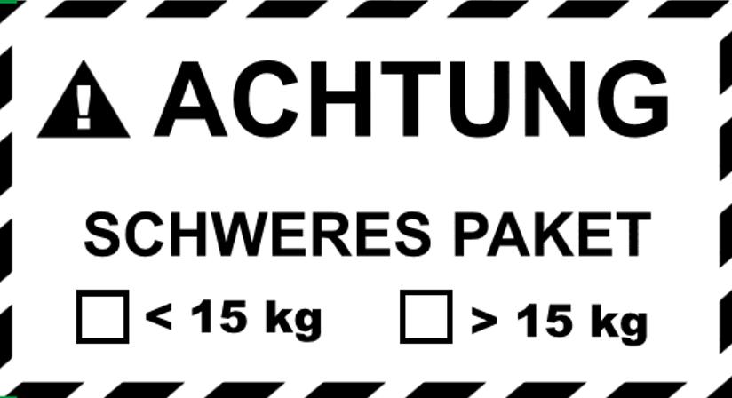 Amazon FBA-Karton, Ankreuzfeld Schweres Paket